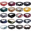 Canitor 20 Pack Boho Headbands for Women Knotted Hair band Floral Headbands Cross Elastic Hair Band Twisted Head Wraps for Women Vintage Headbands