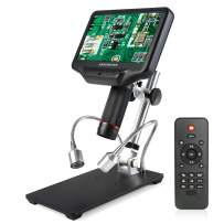 Andonstar AD407 3D HDMI Digital Microscope with 4MP UHD and 7 inch Adjustable LCD Screen for Phone Repairing and Soldering