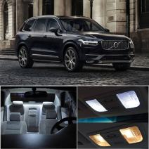 Fit for 2002-2011 Volvo XC90 Package Kit White LED Interior Light Accessories Replacement Parts 18 Pcs
