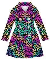 UNICOMIDEA Girls Wool Jacket Cute Long Coat for Little Girls Breasted Dress Coat Fall/Winter Overcoat for 6-11 Years Old