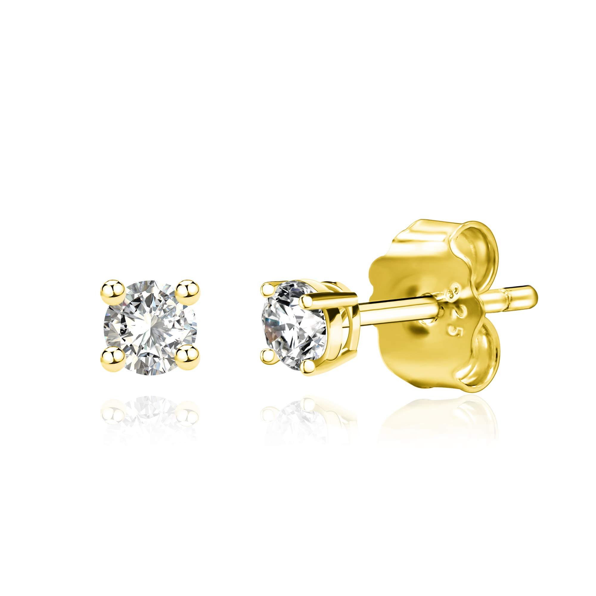 Spoil Cupid 925 Sterling Silver Cubic Zirconia Stud Earrings Set for Women Men