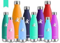 KollyKolla Vacuum Insulated Stainless Steel Water Bottle - BPA Free Drinks Bottles Leak-Proof Drinking Bottle, Hot & Cold Thermal Flask, for Kids & Adult, Sports, Gym, Yoga, (500ml Lake Green)