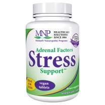 Michael's Naturopathic Programs Adrenal Factors Stress Support - 60 Vegan Tablets - Nourishes the Adrenal Glands, Supports the Body During Stress - Vegetarian, Kosher - 20 Servings