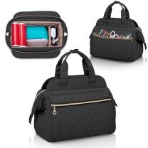 YARWO Carrying Case Compatible with Cricut Joy Machine, Craft Tote Bag with Wide Opening Design and Removable Divider, Black