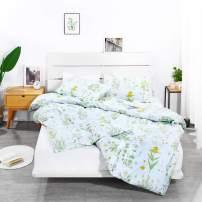 Floral Duvet Cover Set Teen Bedding Soft Microfiber Comforter Cover 90 x 90 Zipper Closure 1 Duvet Cover & 2 Pillow Shams (Daisy, Queen)