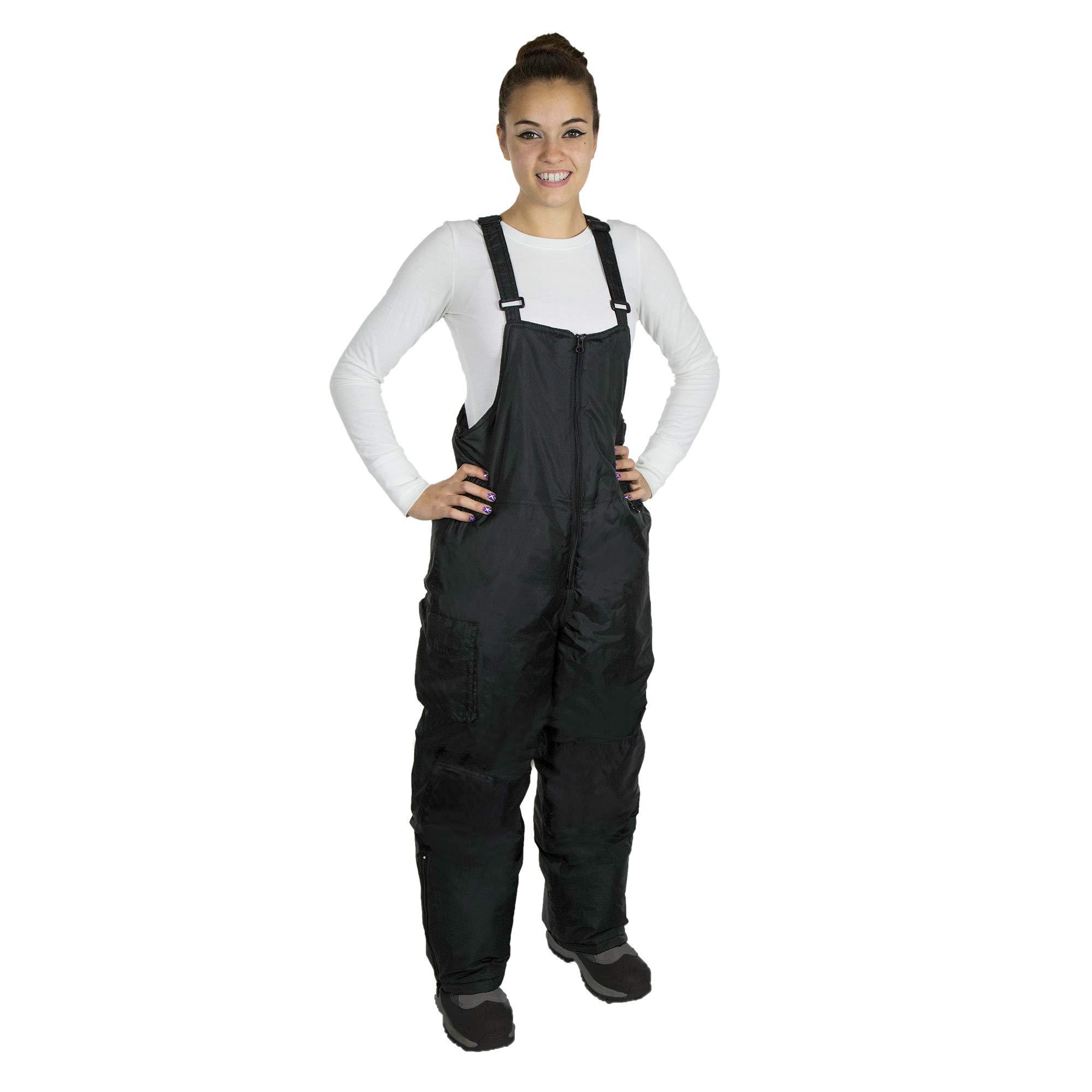 RPS Outdoors Women's snow bibs (black, Large)