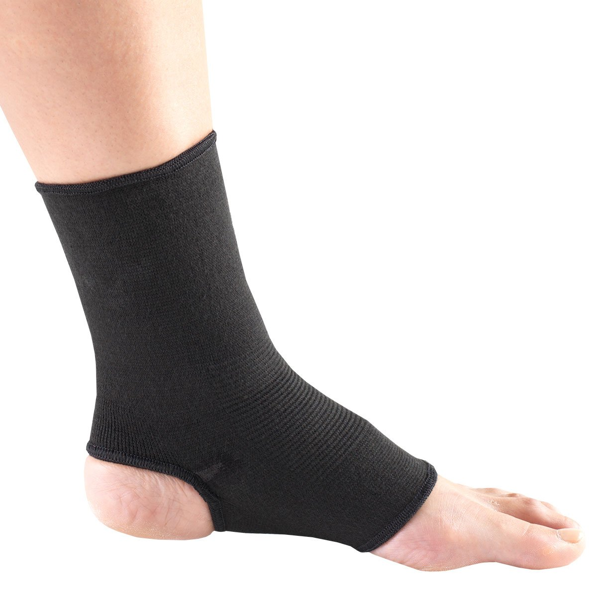 Champion Ankle Support, Pullover, Black Knit Elastic, Small/Medium