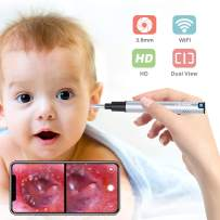 Wireless Ear Scope, LIMINK Otoscope Ear Camera with 3.9mm Lens and LED Lights, Ear Endoscope for Kids Adults Works with Android & iOS Smartphones Tablets - Silver