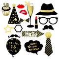 AMAWILL 16pcs Photo Props 18th Happy Birthday Party Decorations Supplies