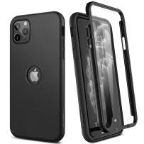 """SURITCH Case for iPhone 11 Pro Max,【Built in Screen Protector】【Support Wireless Charging】 Soft TPU Back Hybrid Bumper Full Body Protection Rugged Shockproof for iPhone 11 Pro Max Cover 6.5""""(Black)"""