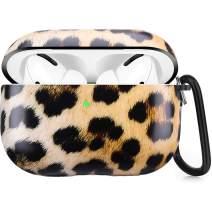 Airpods Pro Case, Leopard Airpods Pro Case Cover Shock & Scratch-Resistant, Cute Girls Men Durable Protective Airpods Pro Case Cover with Keychain for AirPods Pro 2019 3rd Gen