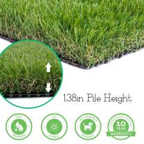 Realistic Thick Artificial Grass Turf -Indoor Outdoor Garden Lawn Landscape Synthetic Grass Mat - Thick Fake Grass Rug (13FTX82FT(1066 Square FT))