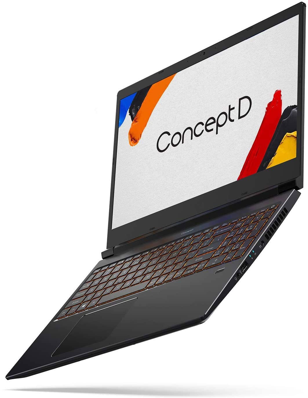 "ConceptD 3 CN315-71-791U Creator Laptop, Intel Core i7-9750H, NVIDIA GeForce GTX 1650, NVIDIA Studio, 15.6"" FHD IPS, 100% DCI-P3 Color Gamut, Pantone Validated, Delta E<2, 16GB DDR4,"