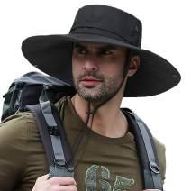 PanPacSight Super Wide Brim Fishing Sun Hat Safari UPF50+ Bucket Boonie Cap for Gardening Hiking Camping