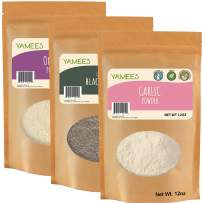 Onion Powder, Garlic Powder, and Ground Black Pepper - Bulk Spices - 3 pack of 12 Ounces Each