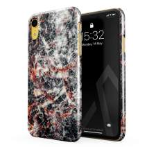BURGA Phone Case Compatible with iPhone XR - Volcano Island Lava Fire Black Marble Cute Case for Girls Thin Design Durable Hard Shell Plastic Protective Case