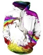 GEEK LIGHTINGMen'sHoodedSweatshirtsPocketPullover3DPrint RegularFit ContrastColor