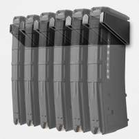 vivi min Solid ABS 6X Standard AR15 PMAG Wall Mount,Gun Mag Holder,Magpul Magazine Storage Racks for Wall Display, 1Pack