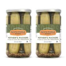 Mother's Puckers (2-pack) - Deli-style sour garlic dill pickles 24oz