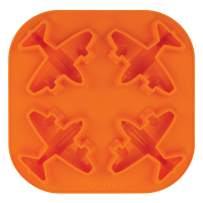 Tovolo Novelty Airplane Ice Cube Mold Trays, Flexible Silicone, Dishwasher Safe
