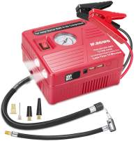 Car Jump Starter with Air Compressor, 1000 AMP Peak Jump Cable, 120 PSI Air Pump, 18000mAh Li-on Battery Jump Pack, Built-in 2 USB Ports and 2 LED Lights