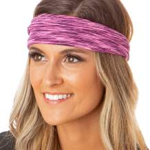 Hipsy Xflex Space Dye Adjustable & Stretchy Wide Headbands for Women
