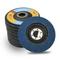 "Flap Disc 40 Grit 4.5"" x 7/8"",T29 Zirconia Abrasive Grinding Wheel-10 Pack"