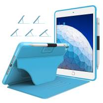 """Soke Case - iPad Air 3 Case 10.5"""" 2019 (3rd Generation),[Luxury Series] Extra Protective But Slim Cover with Pencil Holder and Strong Magnetic, 5 Convenient Stand Angles, Auto Sleep/Wake,(Light Blue)"""