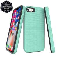 Case for iPhone se, iPhone 5S Case, iPhone 5 Case, 2 Layer 360 Full Body Defender Drop Protection Shockproof, Non Slip Durable 2 in 1 Thin Rugged Hybrid Hard Bumper Cover + Touch Pen (Mint Green)