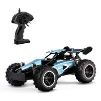 RC Cars, KINGBOT 2.4 Ghz 1: 18 Scale 2WD Remote Control Car Toys 14 Km/H All Terrain Radio Control Off-Road Vehicle with 50M Control & 20 Mins Play Time for Kids Birthday Gifts (3063)