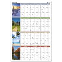"""2020 Erasable Calendar, Dry Erase Wall Planner by AT-A-GLANCE, 36"""" x 24"""", Large, Vertical/Horizontal Seasons in Bloom (PA133)"""