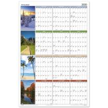 "2020 Erasable Calendar, Dry Erase Wall Planner by AT-A-GLANCE, 36"" x 24"", Large, Vertical/Horizontal Seasons in Bloom (PA133)"