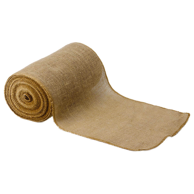 RUSPEPA Natural Burlap Fabric Rolls - Burlap Table Runner Perfect for Rustic Weddings, Decorations and Crafts - 12Inch X 20Yard
