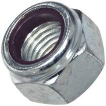 "Steel Hex Nut, Zinc Plated Finish, Grade 2, Self-Locking Nylon Insert, Right Hand Threads, 3/8""-16 Threads, 0.622"" Width Across Flats (Pack of 100)"