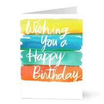 Hallmark Business Birthday Cards for Employees (Birthday Watercolor) (Pack of 25 Greeting Cards)