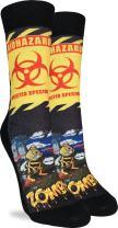 Good Luck Sock Women's Zombees Crew Socks - Black, Adult Shoe Size 5-9