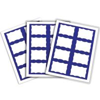 C-Line Pressure Sensitive Inkjet/Laser Printer Name Badges, Blue Border, 3.38 x 2.33 Inches, 200 Labels per Box (92365)