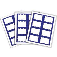C-Line Pressure Sensitive Inkjet/Laser Printer Name Badges, Blue Border, 3.38 x 2.33 Inches, 200 Labels per Box (92365)