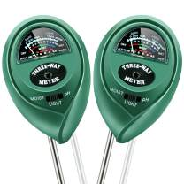 KINCREA 2 Pcs 3 in 1 Soil Tester Moisture Meter, Light and PH Acidity Tester for Plant Care, Soil Hygrometer Water Monitor for Garden, Farm, Lawn Plants Indoor & Outdoor