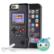 Autbye Gameboy Case for iPhone, Retro 3D Phone Case Game Console with 36 Classic Game, Color Display Shockproof Video Game Phone Case for iPhone X/XS(Black)