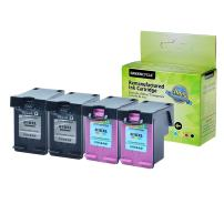 GREENCYCLE 4 Pack Hight Yield Remanufactured Ink Cartridge Combo Compatible for HP 61XL CH563WN H564W Black and Tri-Color Set - Black,2 Pack and Color,2 Pack