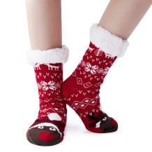 Goodstoworld Unisex Women/Men Winter Christmas Slipper Socks Non-Slip Soft Warm Fluffy Fleece Socks