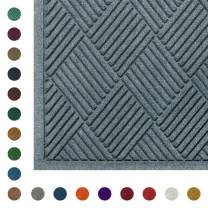 "WaterHog Diamond Fashion | Commercial-Grade Entrance Mat - Indoor/Outdoor Quick-Drying, Stain Resistant Door Mat (Bluestone, 12.2' Length x 6' Width x 3/8"" Thick)"