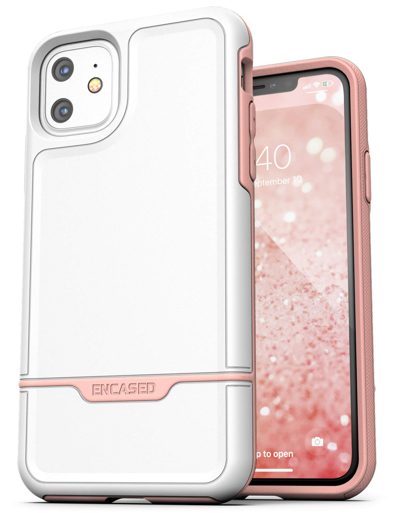 Encased Heavy Duty iPhone 11 Protective Case Pink (2019 Rebel Armor) Military Grade Full Body Rugged Cover