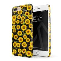 BURGA Phone Case Compatible with iPhone 7 Plus / 8 Plus - Yellow Sunflowers Vinatge Flowers Floral Print Pattern Fashion Designer Cute Case for Women Thin Design Durable Hard Plastic Protective Case
