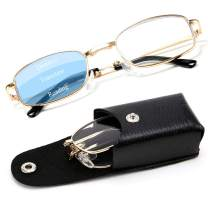 WANWAN Progressive Multifocus Reading Glasses Blue Light Blocking Folding Readers for Women Men