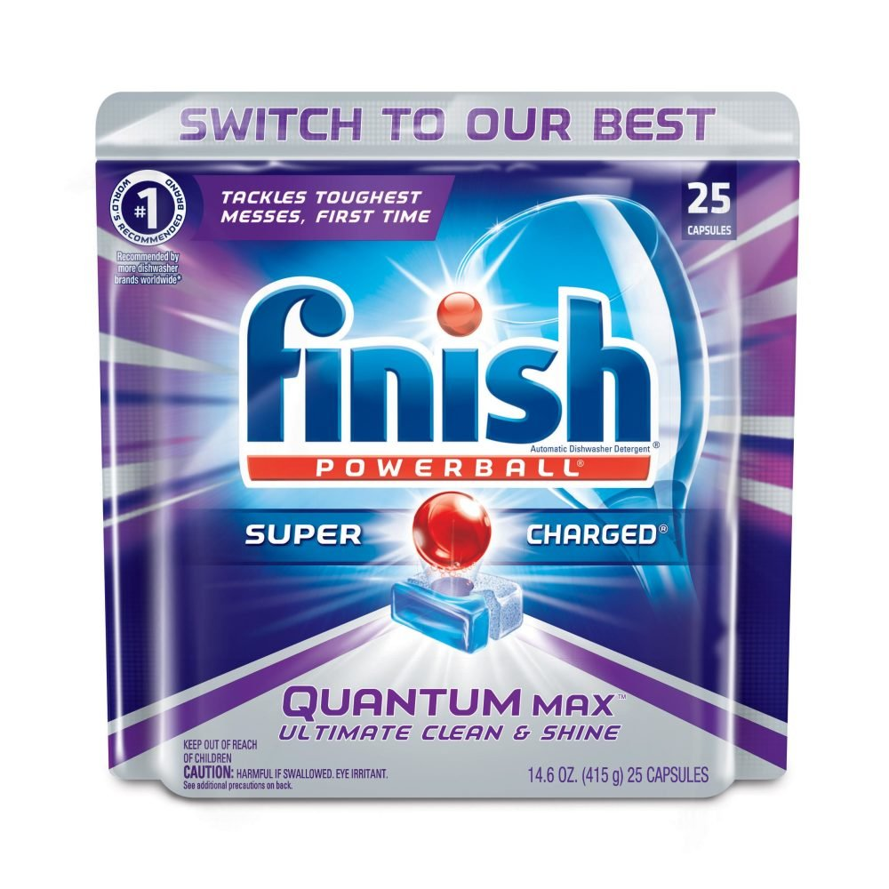FINISH Quantum with Baking Soda, 25 Count