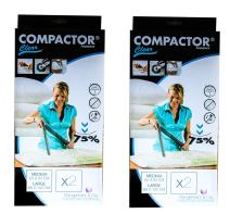 Compactor Classic Space Saver Vacuum Storage Under Bed Solution with Vacuum Bag to Protect Clothes, Pillows, Duvets, Comforters, Blankets (2M+2L)