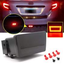 Xotic Tech Smoked Lens 3-in-1 Full LED Rear Fog Light Kit fit for Subaru Impreza WRX/STI or Crosstrek, Function as Tail/Brake Lamp, Backup Reverse Light Includes Wire Harness & Mounting Bracket