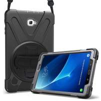 ProCase Galaxy Tab A 10.1 Case 2016 Old Model, Rugged Heavy Duty Shockproof Rotating Kickstand Protective Cover Case for Galaxy Tab A 10.1 Inch SM-T580 T585 T587 Tablet -Black